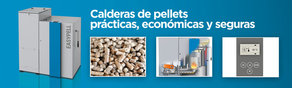 calderas de pellets con carga manual